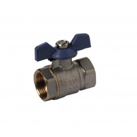 Line valve with butterfly handle closing ball H-H