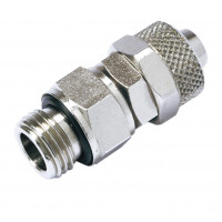 Straight male conical swivel tube clamp fitting